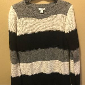Old Navy Black/Gray Wool Blend Tunic Sweater Med